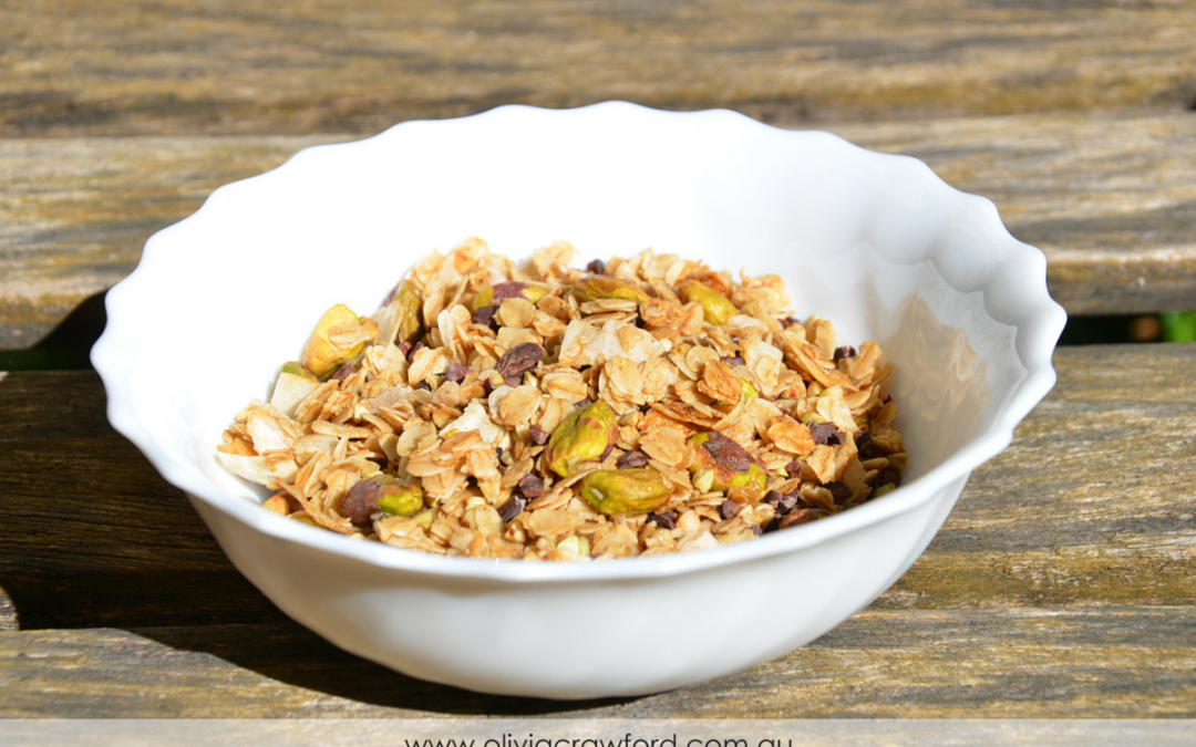 Pistachio, Cacao Nib, and Buckwheat Granola